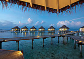 Wasserbungalows Panorama